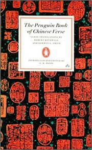 The Penguin Book of Chinese Verse